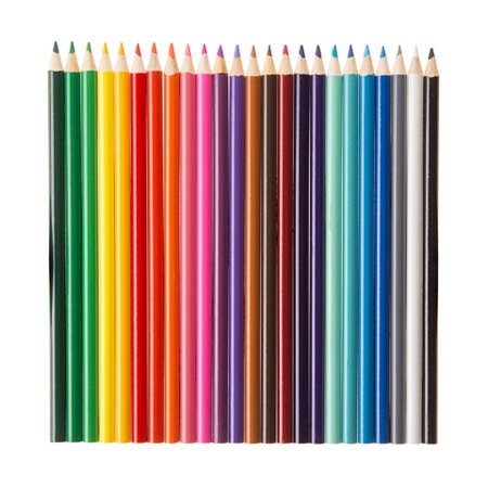 COLORED PENCIL 24CT SET 7IN SHARPENED 3.0MM LEAD