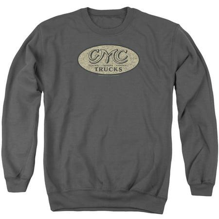 Gmc Vintage Oval Logo Mens Crew Neck Sweatshirt