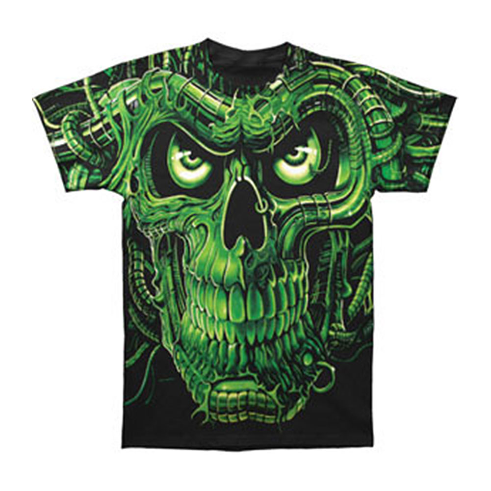 Fantasy Men's  Terminator Skull T-shirt Black