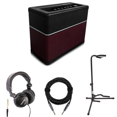 line 6 amplifi 150 watt guitar amp with bluetooth headphones cable and stand. Black Bedroom Furniture Sets. Home Design Ideas
