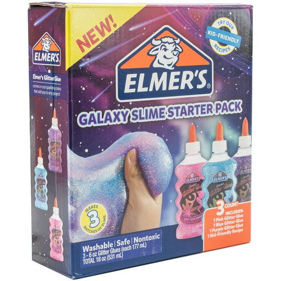 Elmer\'s Galaxy Glitter Glue 3/Pkg - Walmart.com