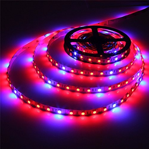 SOLMORE Waterproof Flexible LED Grow Strip Light Plant Growing Bar Light for Indoor Garden Greenhouse Hydroponic Plant Flowers Vegetables Grow