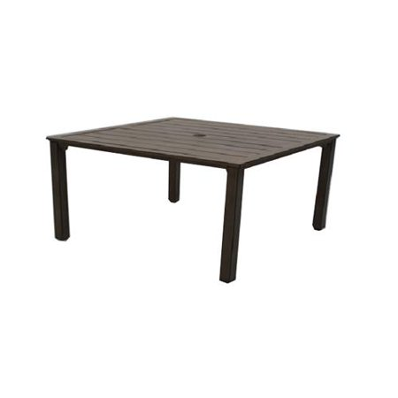Aluminum Slat Table - Patio Master ALX28112H60 Hazelwood Square Dining Table, Aluminum With Slat Top, 41-In. Sq. - Quantity 1