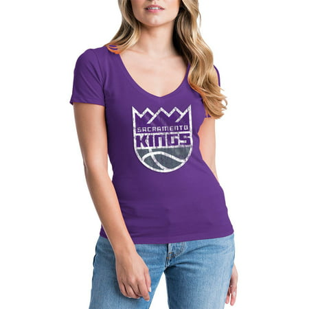Sacramento Kings Womens NBA Short Sleeve Baby Jersey V-neck ()