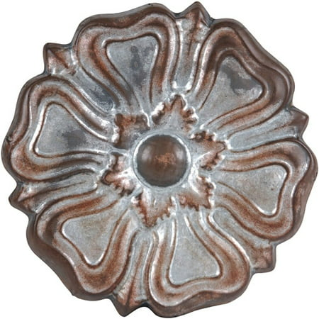 Wilco galvanized metal rosette wall decor grey for Al ahram aluminium decoration