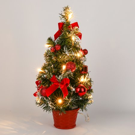 SUPERHOMUSE 15.7Inch Christmas Tree Flowerpot Wedding Festival Party Decoration Christmas Gift Home Desktop Decoration ()