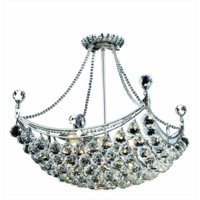 PWG Lighting - Lighting By Pecaso 8330D20C-RC Taillefer Heirloom Handcut Crystal Chandelier, Chrome
