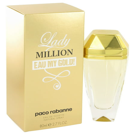 Paco Rabanne Lady Million Eau My Gold Eau De Toilette Spray for Women 2.7 oz
