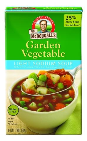Dr. McDougall's Right Foods Ready To Serve, Light Sodium Garden Vegetable Soup, 17.9 Ounce... by Dr. McDougall's Right Foods Inc