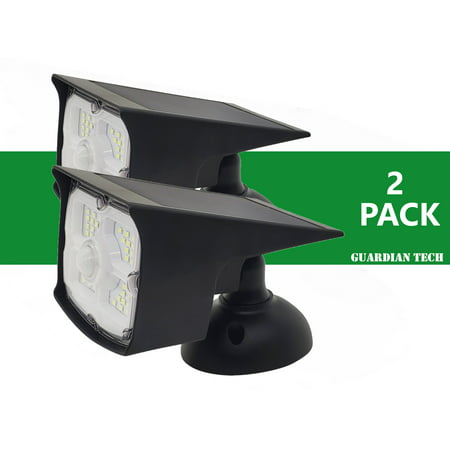 Guardian Tech Security Torch LED Spotlight [2-Pack]   Solar Motion Detector Lights for Outside   High Powered Spot Light   Mountable Bright Wireless Spotlight Outdoor…