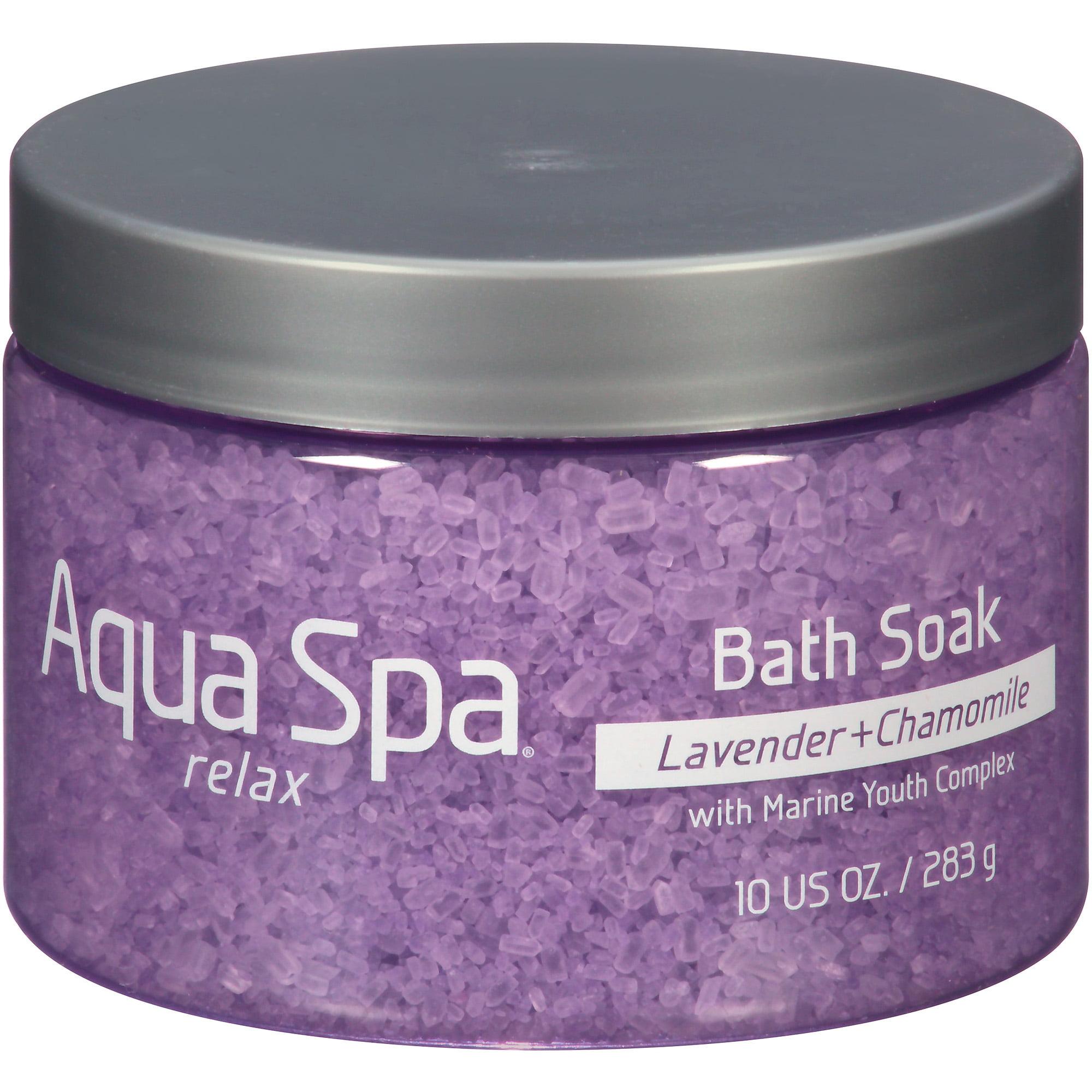 Aqua Spa Lavender + Chamomile Relax Bath Soak, 10 oz