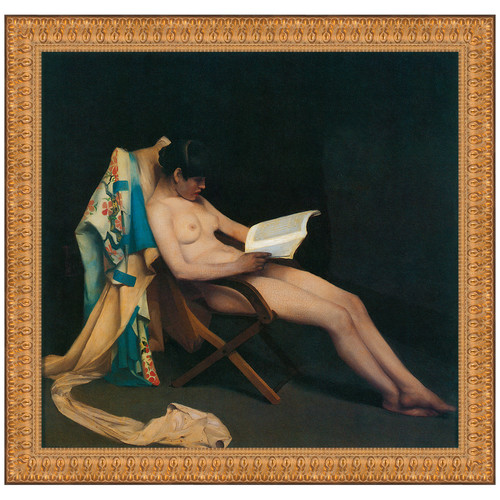 Design Toscano The Reading Girl, 1887 by Theodore Roussel Framed Painting Print