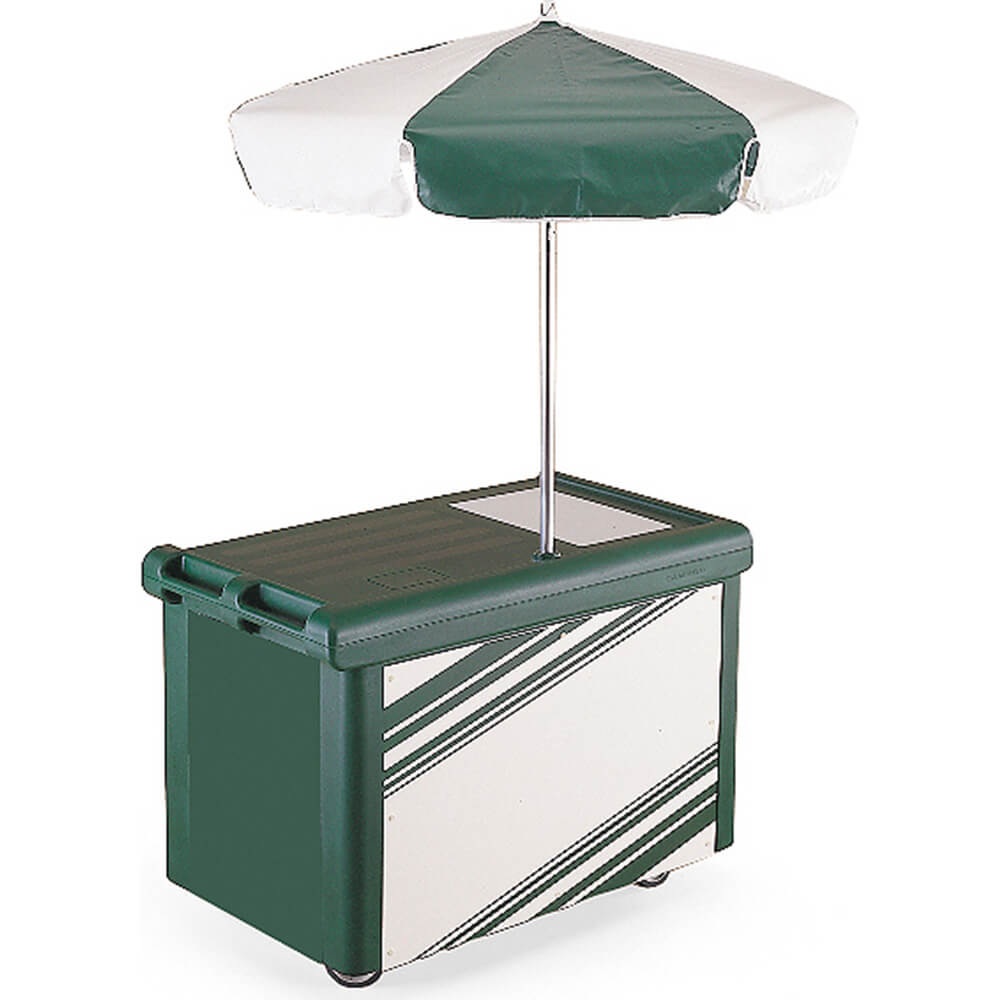 Cambro Camcruiser Vending Cart with Umbrella, Green, CVC5...