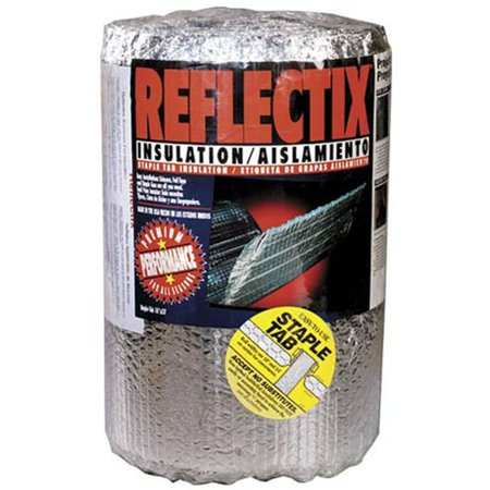 REFLECTIX INC Reflective Insulation, Double Bubble Foil, Staple Tab, 16-In. x 25-Ft. ST16025 ()