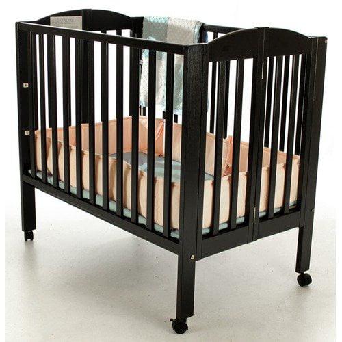 Dream On Me 3-in-1 Portable Folding Crib in Black