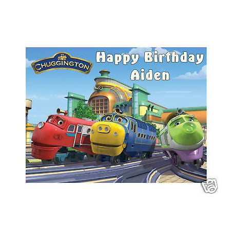 1 4 Sheet Chuggington Edible Frosting Cake Topper