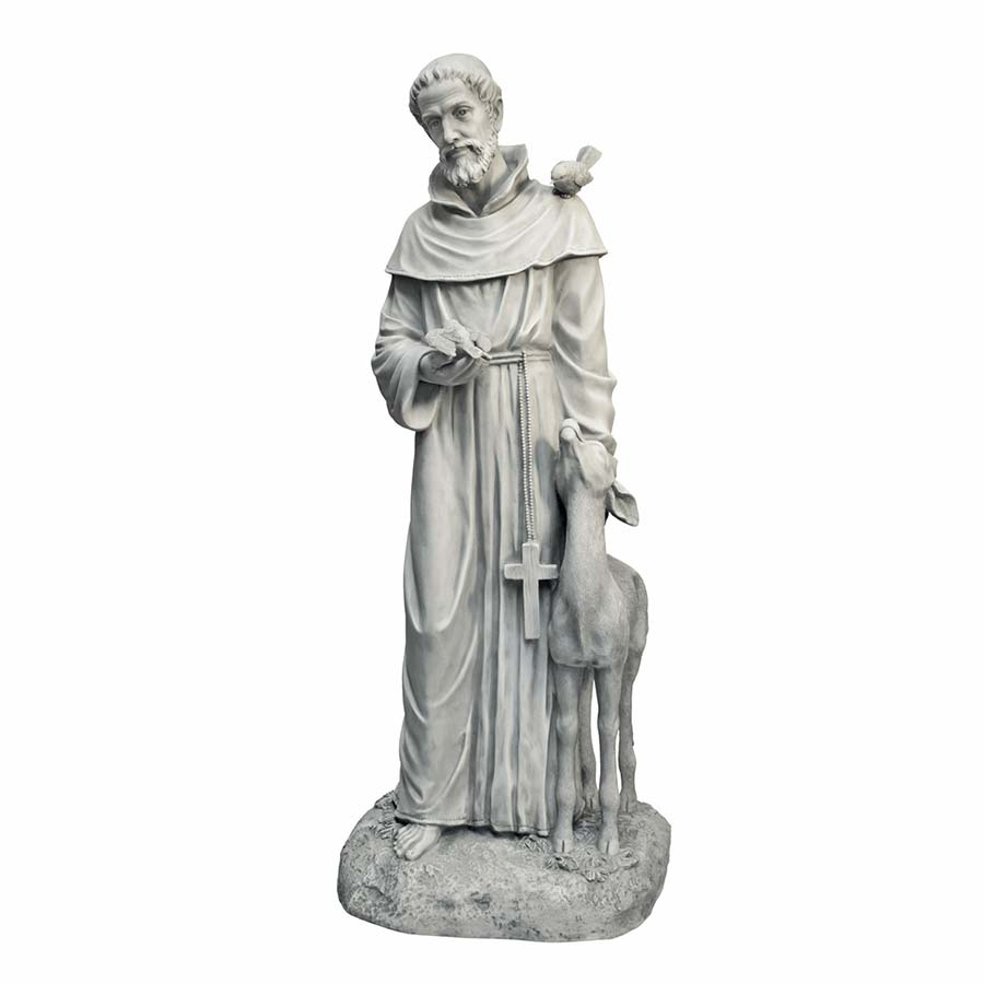 Saint Francis of Assisi, Patron Saint of Animals Garden Statue by Design Toscano