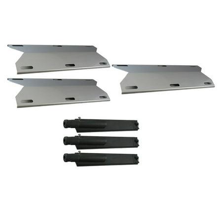(Jenn Air Grill Repair Kit Replacement Grill Burner & Heat Plate 3 Pack)