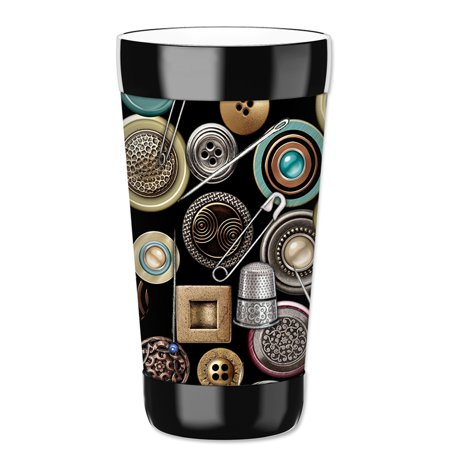 Mugzie 16-Ounce Tumbler Drink Cup with Removable Insulated Wetsuit Cover - Safety (5 Pin Tumbler Cylinder)