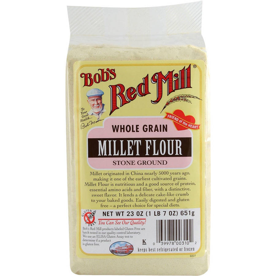 Bob's Red Mill Whole Grain Millet Flour, 23 oz (Pack of 4)