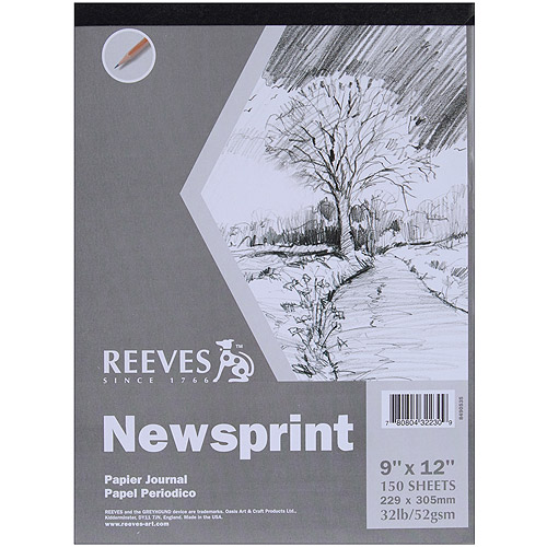 Reeves Newsprint Paper Pad, 150 Sheets, 32 lb