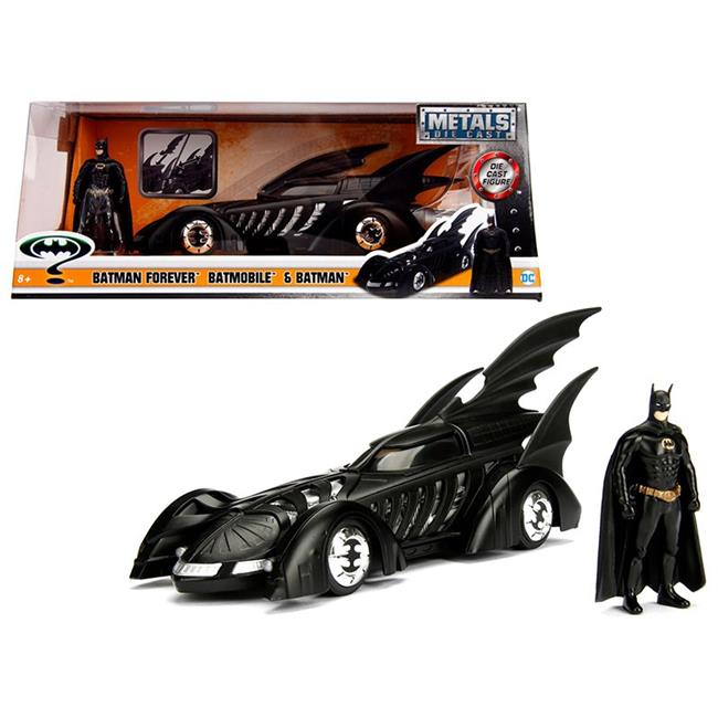1 isto 24 1995 Batman Forever Batmobile with Diecast Batman Figure Model Car