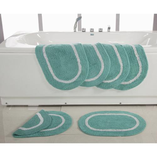 Affinity Home Collection Reversible Cotton 17 x 24-inch Bath Rugs (Set of 6)