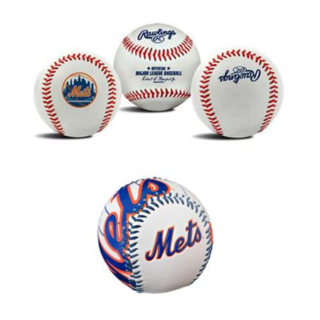 New York Mets MLB Baseballs Bundle 2 Pack