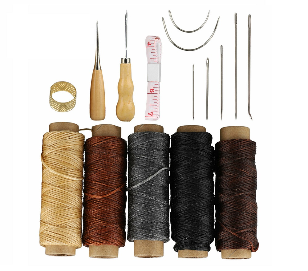 FOR CANVAS LEATHER CARPET UPHOLSTERY REPAIR HAND NEEDLES KIT DRITZ 7 pcs