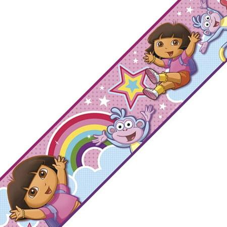 Nickelodeon - Dora Rainbow Wall Border - Rainbow Border