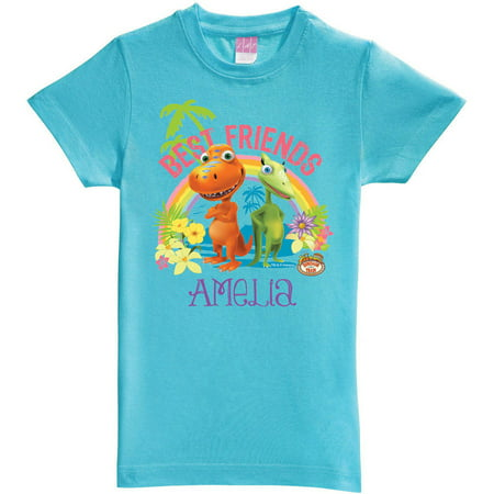 Personalized Dinosaur Train Best Friends Aqua Youth Fitted
