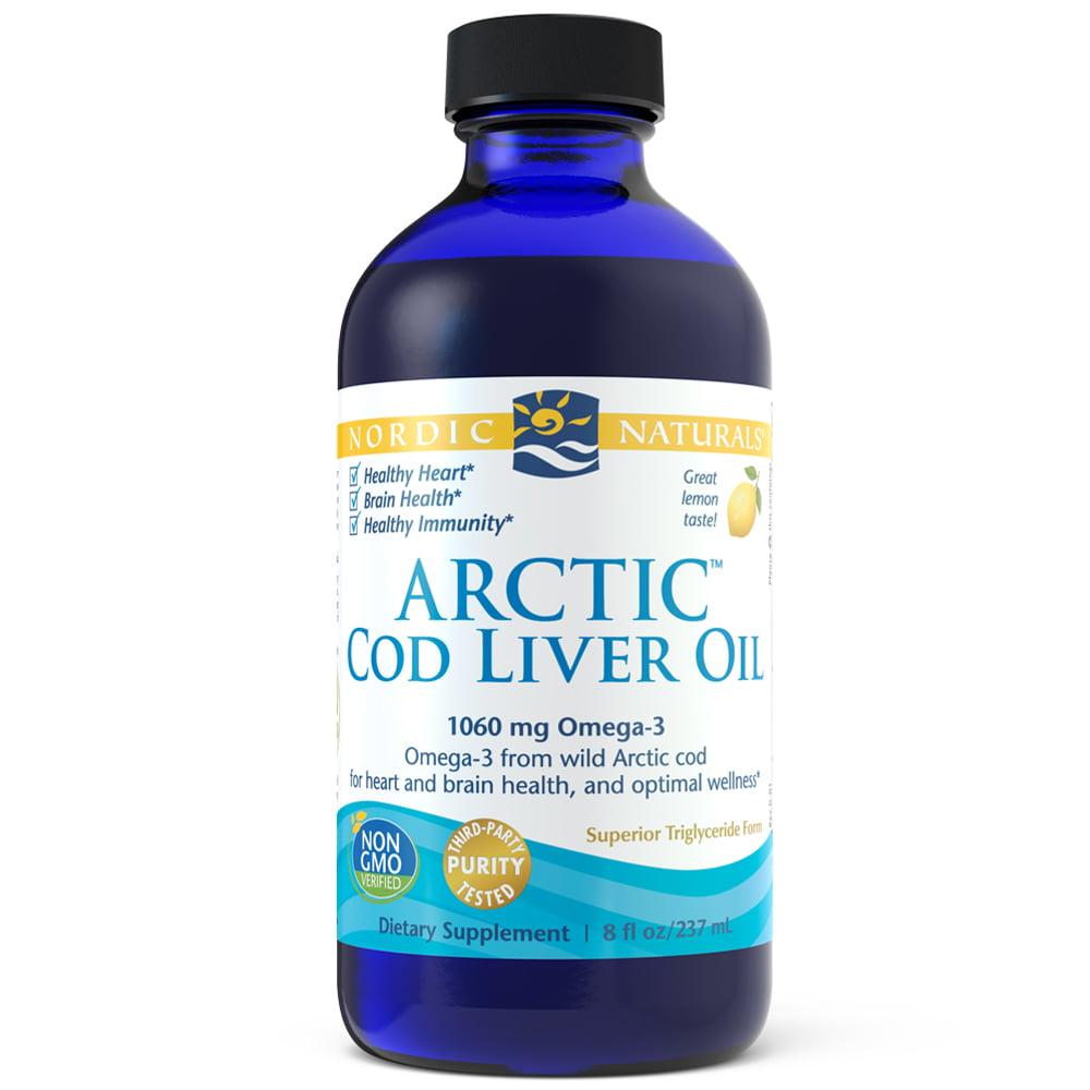 Nordic Naturals Cod Liver Oil Liquid, Lemon, 1060 Mg, 8 Oz