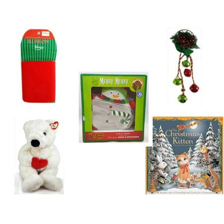 christmas fun gift bundle 5 piece red velvet ribbon indooroutdoor 45 - Cracker Barrel Christmas Eve Hours