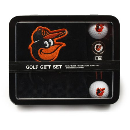 Team Golf MLB Baltimore Orioles Embroidered Golf Towel, 2 Golf Balls, And Divot Tool Set