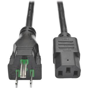 Tripp Lite 10ft Hospital-Grade Computer Power Cord (NEMA 5-15P to IEC-320-C13)