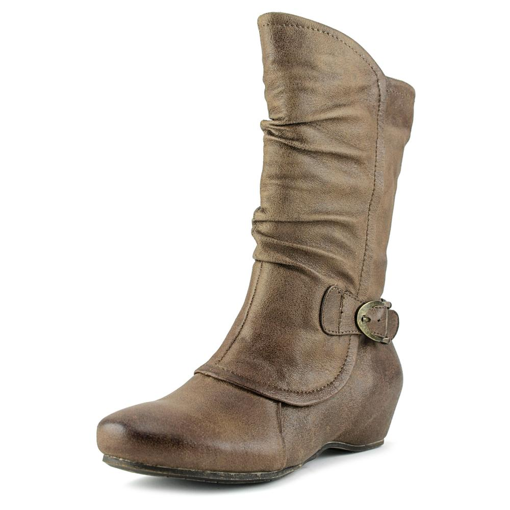 Bare Traps Shelby Women  Round Toe Synthetic Brown Mid Ca...