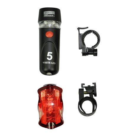 AMC Bicycle Light Set Super Bright 5 LED Headlight Led Tail Light