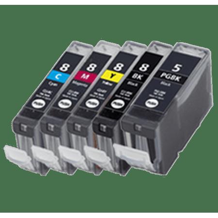 Zoomtoner Compatible Canon Pixus iP-4200 CANON CLI-8 SET + PGI-5BK INK / INKJET Cartridge Set (Total - 5 Cartridges) - image 1 of 1
