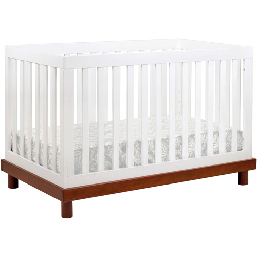Baby Mod Olivia 3-in-1 Crib White and Cherry