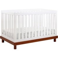 Baby Mod Olivia 3-in-1 Convertible Crib in Amber/White