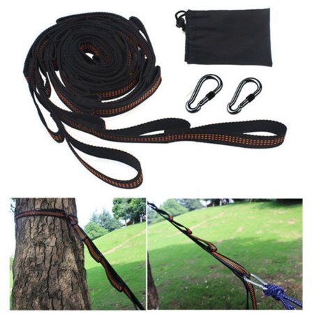 2PCS 9.19 Feet Adjustable Hammock Tree Straps Set Hanging Extension Straps With Carabiner ()