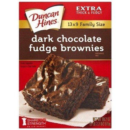 Duncan Hines Brownie Mix, Dark Chocolate Fudge (3