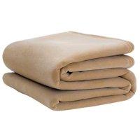 VELLUX 1B05389 Blanket,Queen,90x90 In.,Tan,PK4