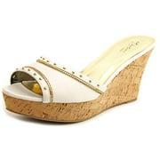 Thalia Sodi Estella Women  Open Toe Synthetic Yellow Wedge Sandal