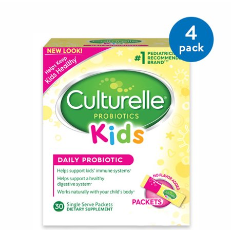 (4 Pack) Culturelle Probiotics Kids Daily Probiotic Dietary Supplement Packets - 30 CT (Highest Rated Probiotics)