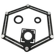 Nomeni Aluminum Alloy Measuring localizer For Builder Craftsmen Handymen Template Tool Black