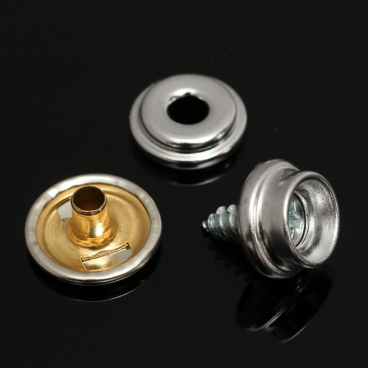 100 Pack Male Stainess Steel Marine Snap Fasteners for Boat Canvas Cover Top etc