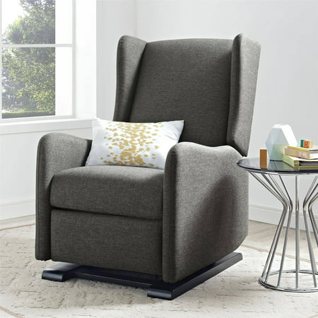 Baby Relax Rylee Wingback Gliding Recliner  Gray