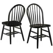 """Set of 2 Black Windsor Chairs – 36.75"""""""