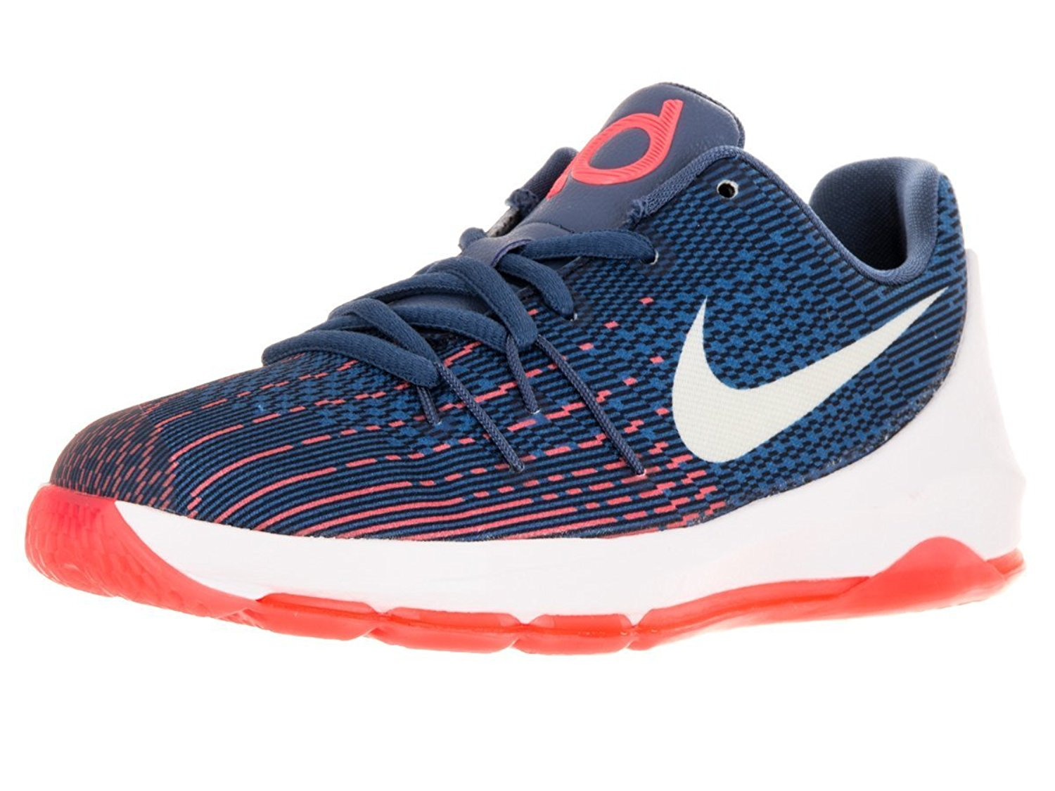 Nike Kids KD 8 Basketball Shoes-OceanFog/White-MidNavy-Phtblue - Walmart.com